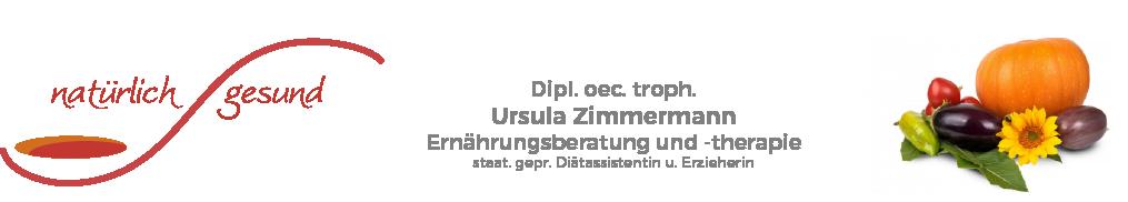 Ursula Zimmermann - Ernährungsberatung und -therapie Logo